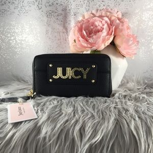 🆕 Juicy Couture Black Wild Card Large Wallet